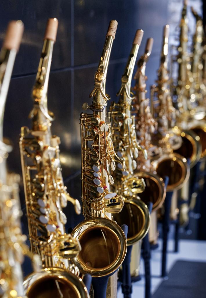 Saxophone im neuen Haus der Musik